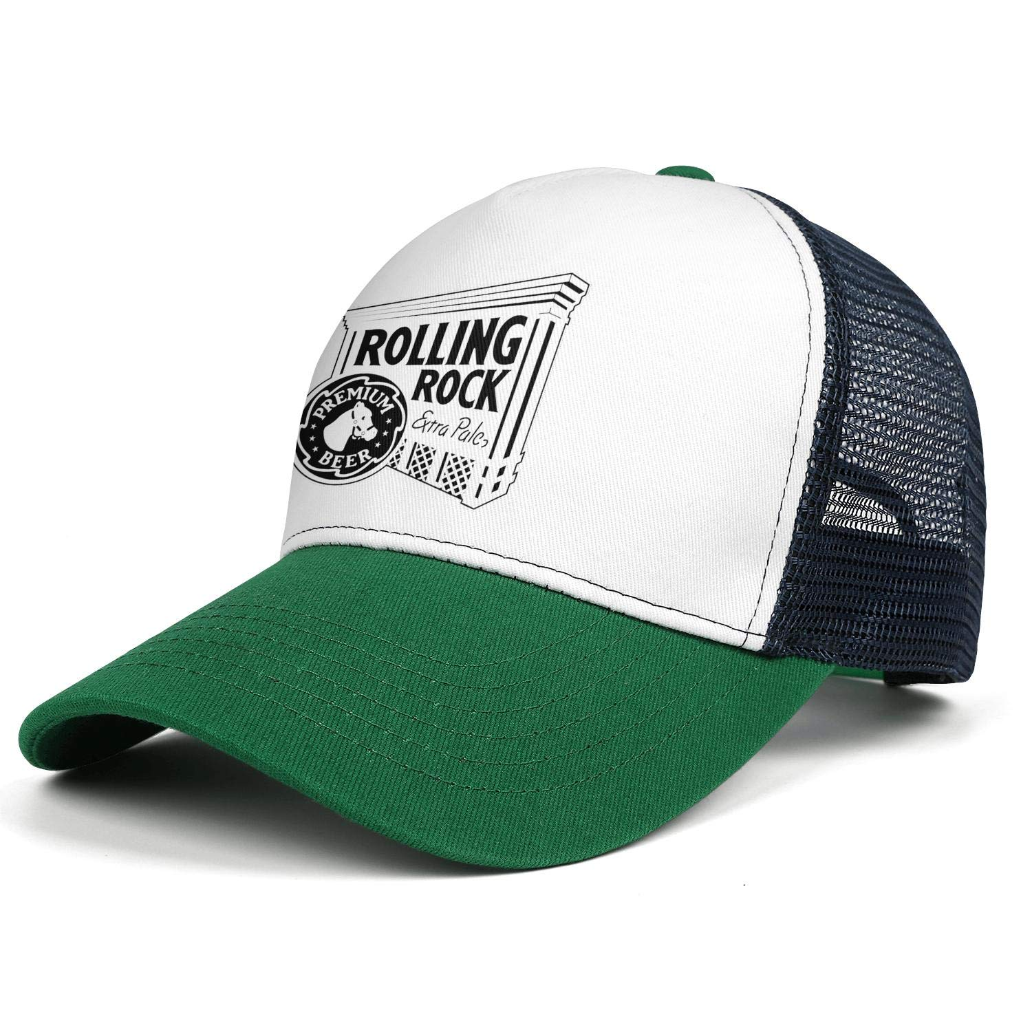Adjustable Baseball Cap Vintage Trucker Hat All Cotton Coolcaps Mens Rolling-Rock-Logo