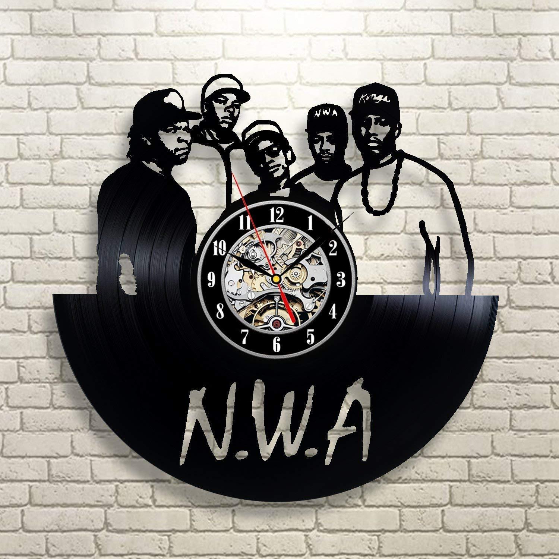 Vinyl Record Wall Clock N.W.A Gifts for him Gangsta Rap Wall Art Eazy-E Wall Art Room Decor Niggaz Wit Attitudes Handmade Decoration