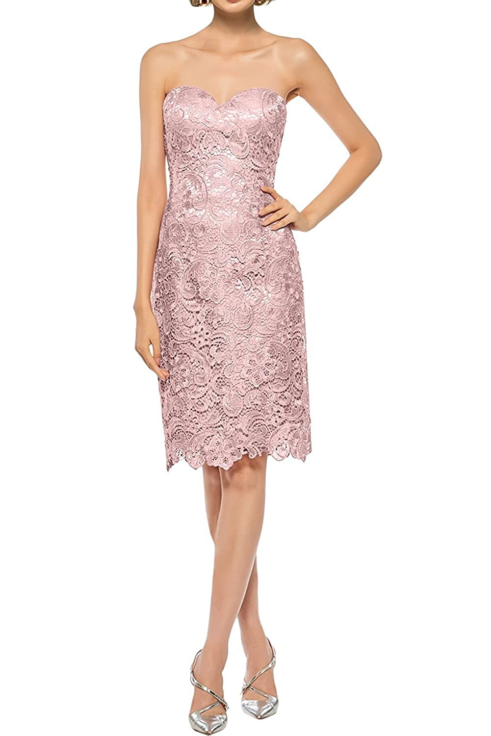 DressyMe Womens Mother of Bride Dress Sleeves Knee-Length Party Dress 2 Piece