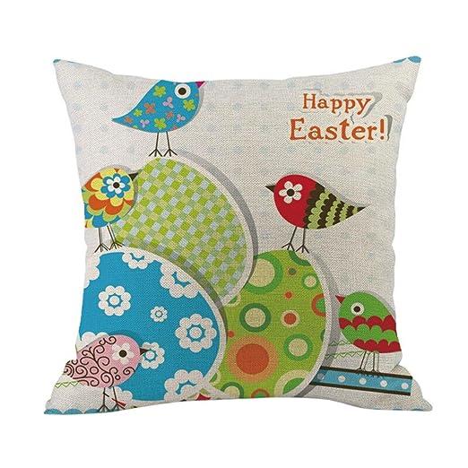 Funda de almohada, iuhan funda de almohada de feliz Pascua ...