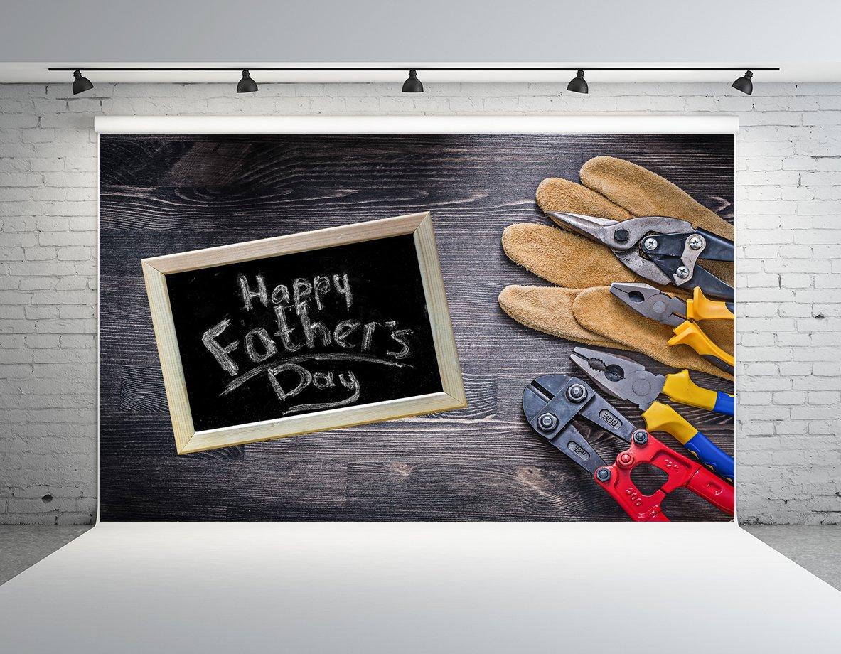 ケイト10 x 10ft Happy父の日Backdrops for Photographyレンチ木材背景写真ブース小道具   B07C9Z6264