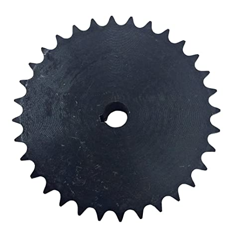 KOVPT # 40 Chain Roller Sprocket 38 Teeth Bore 0 75 Inch Type B Pitch 0 5  Inch Carbon Steel Black 1Pcs