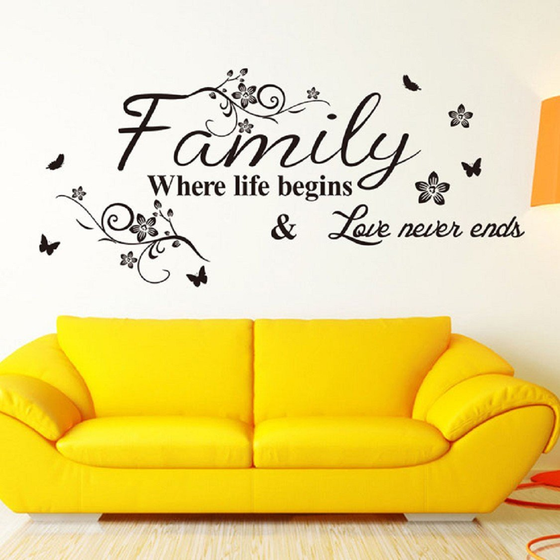 Wall Stickers, Ikevan PVC Decal Removable Art Family Beautiful ...
