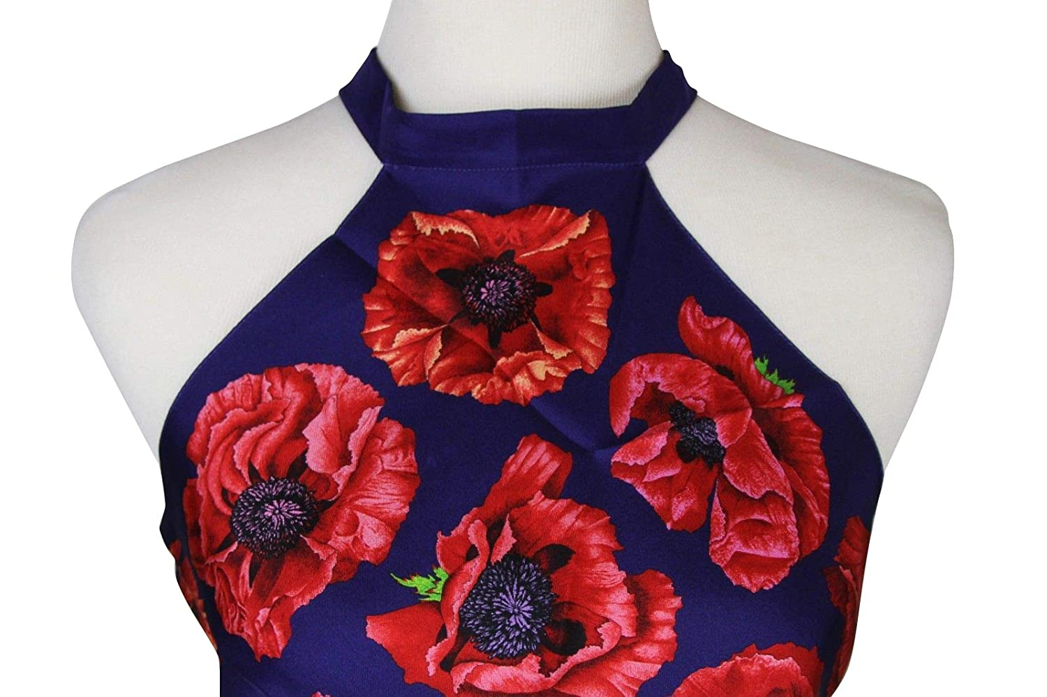 33928e9af Gucci Floral Scarf Blue/Red Poppy Silk Halter Top 327378 4574 at Amazon  Women's Clothing store: