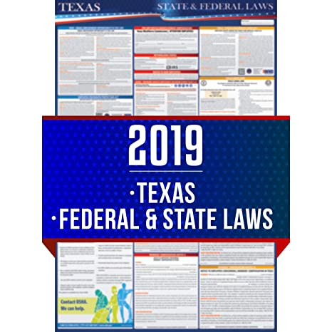 New Texas Laws 2019 Amazon.: 2019 Texas State and Federal Labor Laws Poster   OSHA