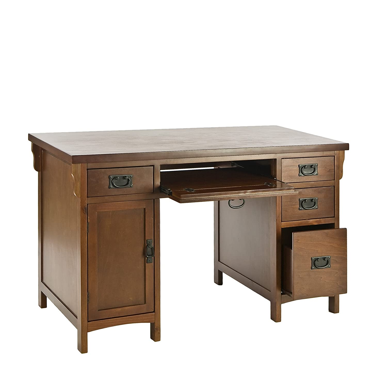 Charmant Amazon.com: Southern Enterprises, Inc. SEI Mission Brown Mahogany Computer  Desk: Kitchen U0026 Dining