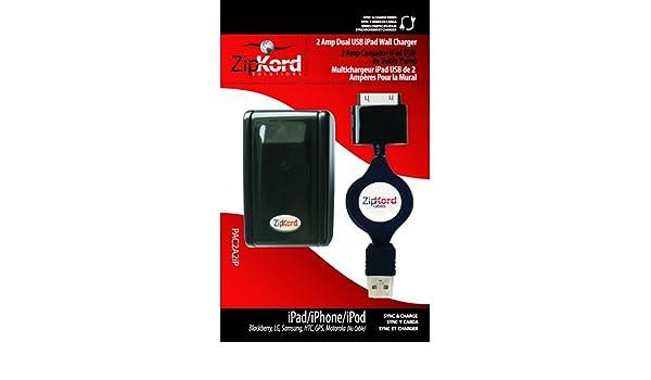Amazon.com: CARGADOR con CABLE RETRACTIL de PARED para iPod ...