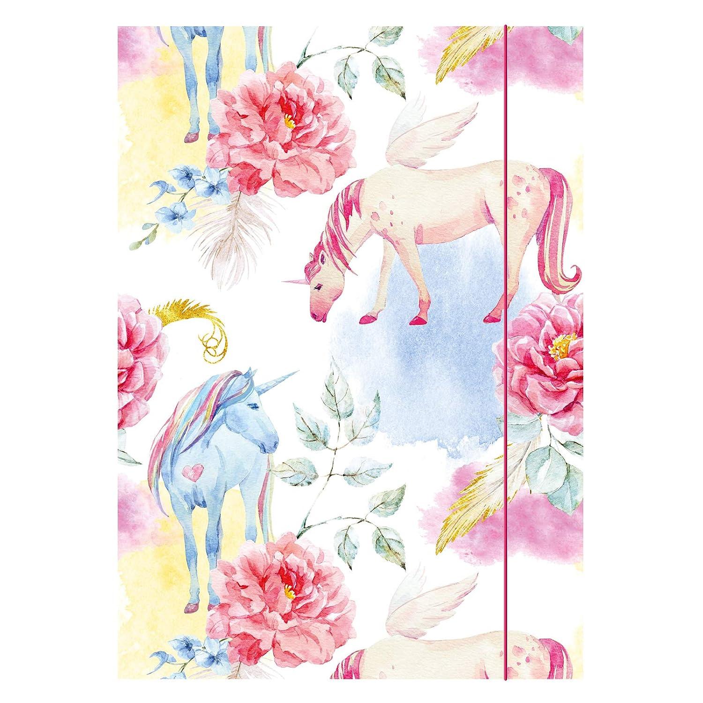 Kim Kranholdt GmbH motivo: unicorno Cartelletta tripla da disegno formato DIN A3