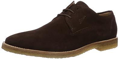 Sioux - Zapatos de cordones de Piel para mujer Marrón marrón, color Marrón, talla 42.5