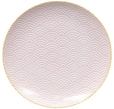 Tokyo Design Studio Starwave Dinner Plate - Large Wave - Pink/Yellow at Amara