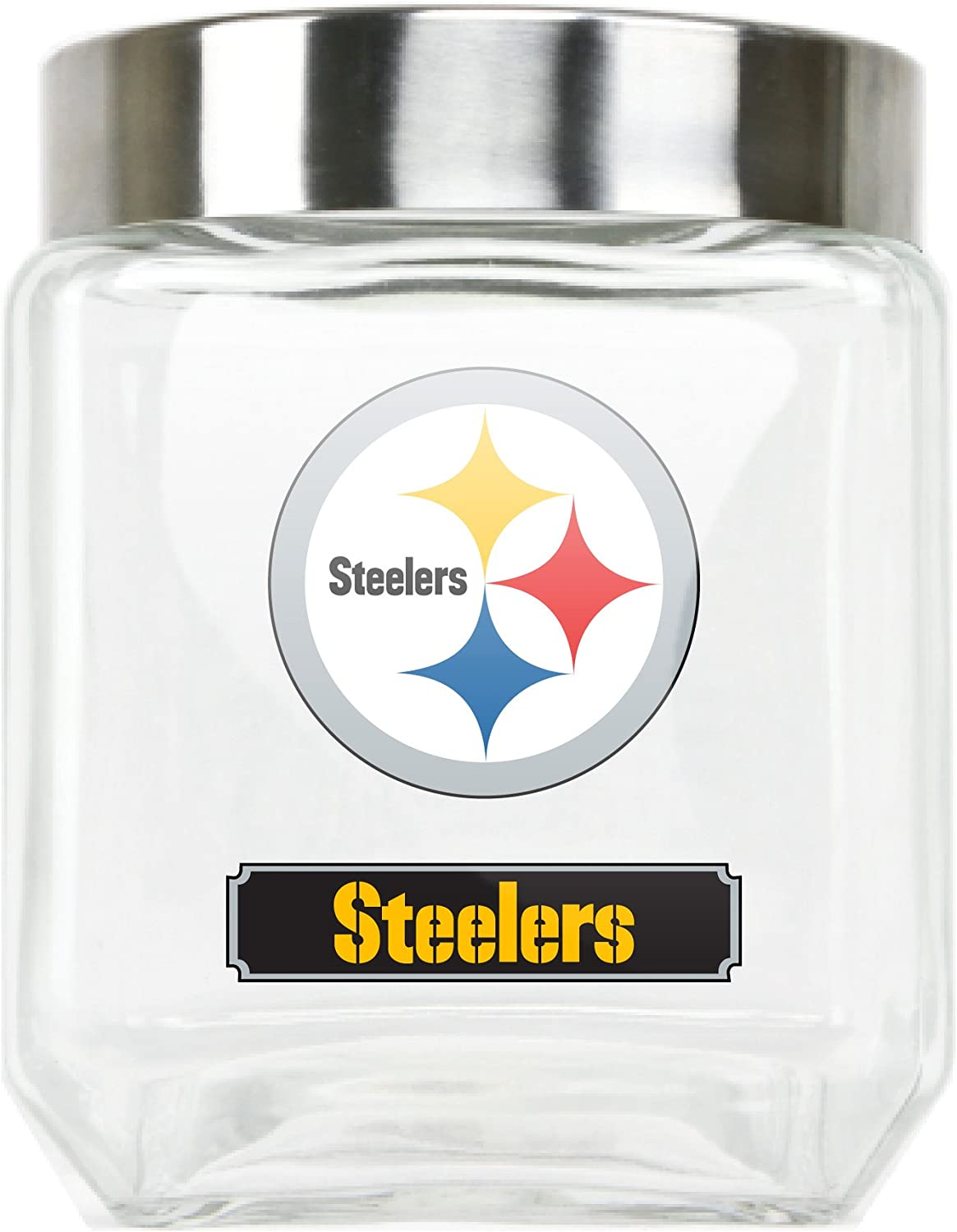 NFL Pittsburgh Steelers Glass Canister, Large