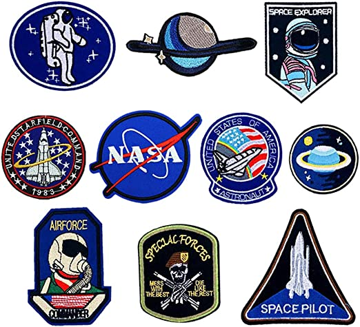 O-Kinee 10PCS Parches NASA Termoadhesivo para la Ropa (10pcs): Amazon.es: Hogar