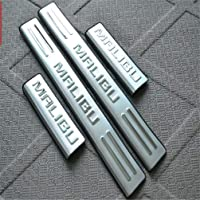 Door Sill Protector For Chevrolet Malibu 2012-2020 Stainless Steel Car Kick Plates Pedal Non-Slip Anti-Scratch, Plate…