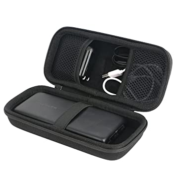 Khanka para Xiaomi Power Bank 20000mAh 2C Cargador Portátil Soporte QC3.0 Dual USB Mi Banco de Batería Externa 20000 Hard Case Carrying Travel Bag ...