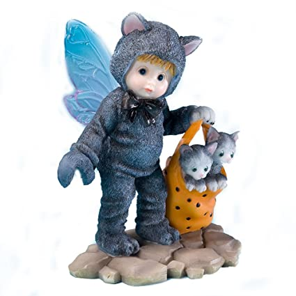 Enesco My Little Kitchen Fairies Black Kitty Fairie Figurine, 4.125 Inch