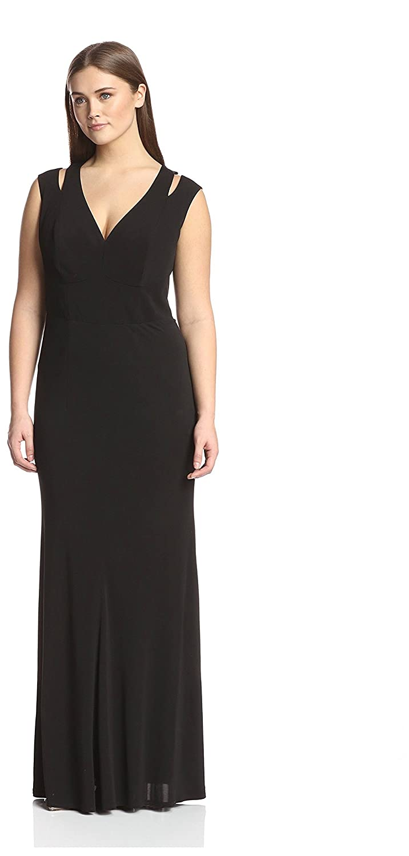 Amazon.com: A.B.S. by Allen Schwartz Women\'s Cold Shoulder Gown ...