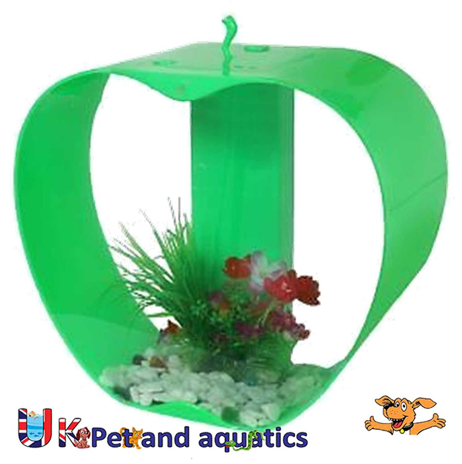 Fish aquarium just dial - Cleair Iwish Mini Apple Tropical Aquarium Green 26ltr