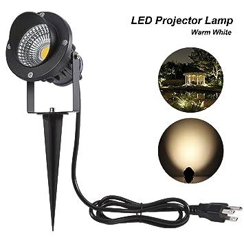 ProGreen Outdoor LED Landscape Lights,10W LED Decorative Spotlight Lamp  With Ground Spike, 3000k