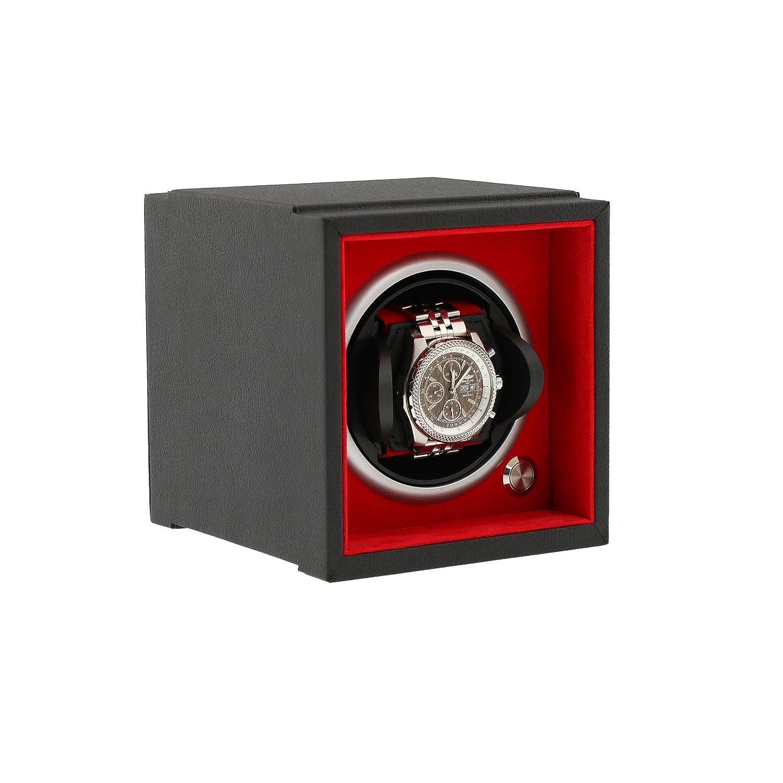 UhrenBeweger fÜr große HandgelenkgrÖßen schwarz Soft-Touch-Add auf das System der Aevitas Rot
