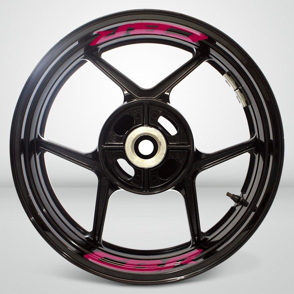 R/éfl/échissant Rouge Autocollant de Jante de Moto Inner Rim Tape pour Honda CBR