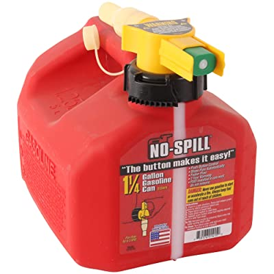 No-Spill 1415 1-1/4-Gallon Poly Gas Can (CARB Compliant): Garden & Outdoor [5Bkhe0113760]