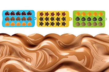 Silicona Chocolate Candy Moldes Ice Cube Bandejas, Cake Cookies Molde Para DIY Candy, Jelly, Galletas, Chocolate, Hielo ,3 Paquetes: Amazon.es: Hogar