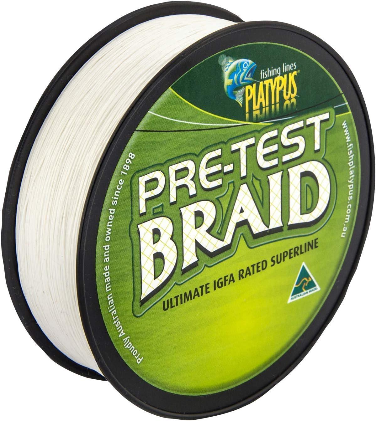 World/'s Best Since 1898 Platypus IGFA Pre-test Fishing Braid White or Green