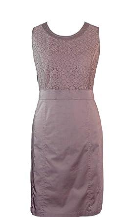 GERRY WEBER Kleid Gr. 42 mit Spitze Khaki Abendkleid