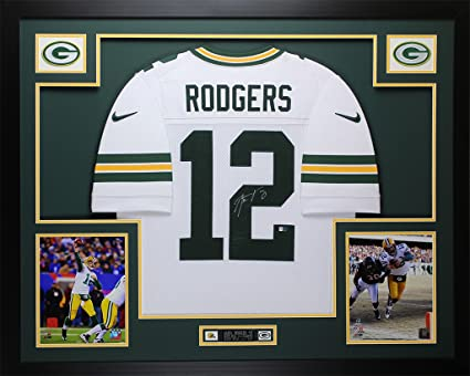 huge selection of 3c776 e7174 Aaron Rodgers Autographed White Nike Packers Jersey ...