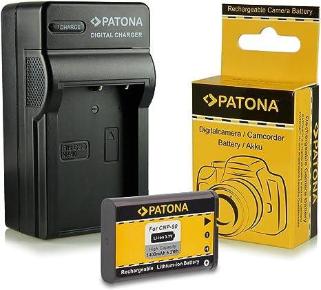 Cargador para Casio np90 np-90 para Exilim ex-h10 ex-h15 ex-h20g ex-fh100