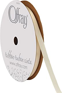 "product image for Offray Berwick 1/4"" Single Face Satin Ribbon, Ivory White, 20 Yds"