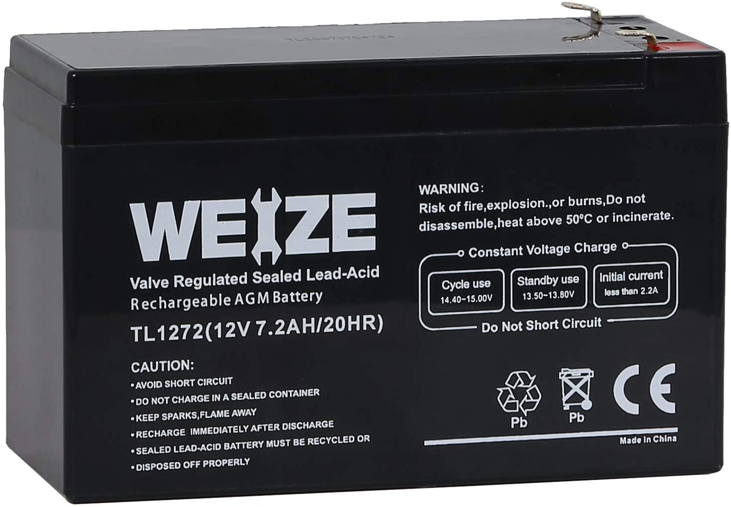 12V 7AH Battery Rechargeable 12 Volt 7 Amp Hour Sealed Lead Acid AGM Batteries for Razor E200/E200S E300 & E300S Electric Scooter,MX350 & MX400 Dirt Rocket Electric Dirt Bike Parts