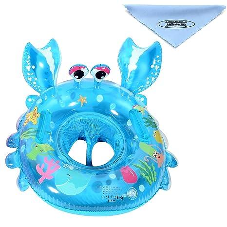 UClever Flotador Cangrejo con Manija para Bebé 6-36 mes (Azul)