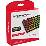 HyperX HKCPXP-BK-US/G Pudding Keycaps With RGB lighting Full Key Set (Black PBT) - US Layout