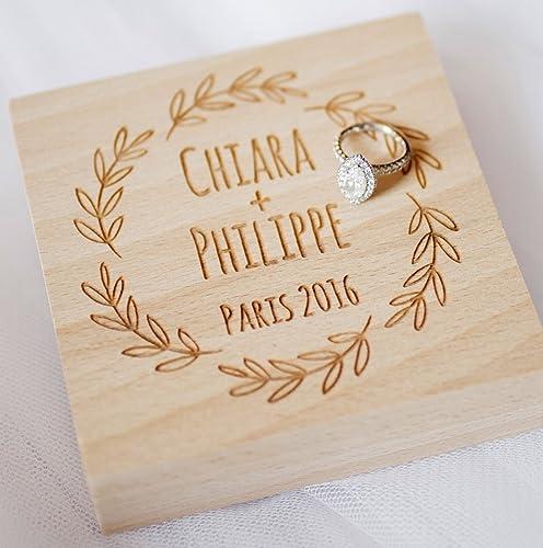aeb492ddf6 Amazon.com: Wedding ring box, personalized ring box, rustic ring bearer  box, ring bearer pillow, wooden ring box, custom engraved ring bearer box:  Handmade