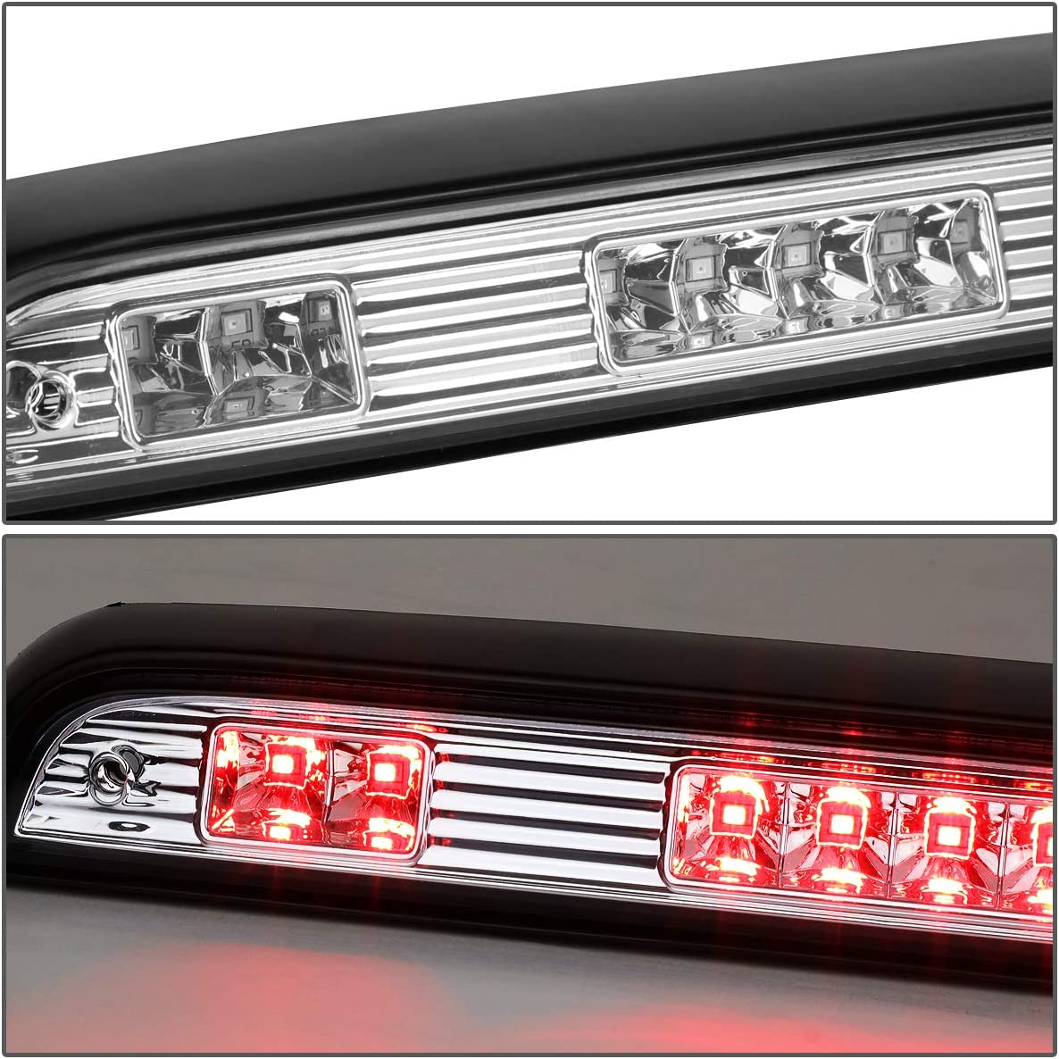 Full LED 3rd Third Tail Brake Light Rear Center Parking Lamp Smoked for 92-96 Ford F150//F250//F350//Bronco