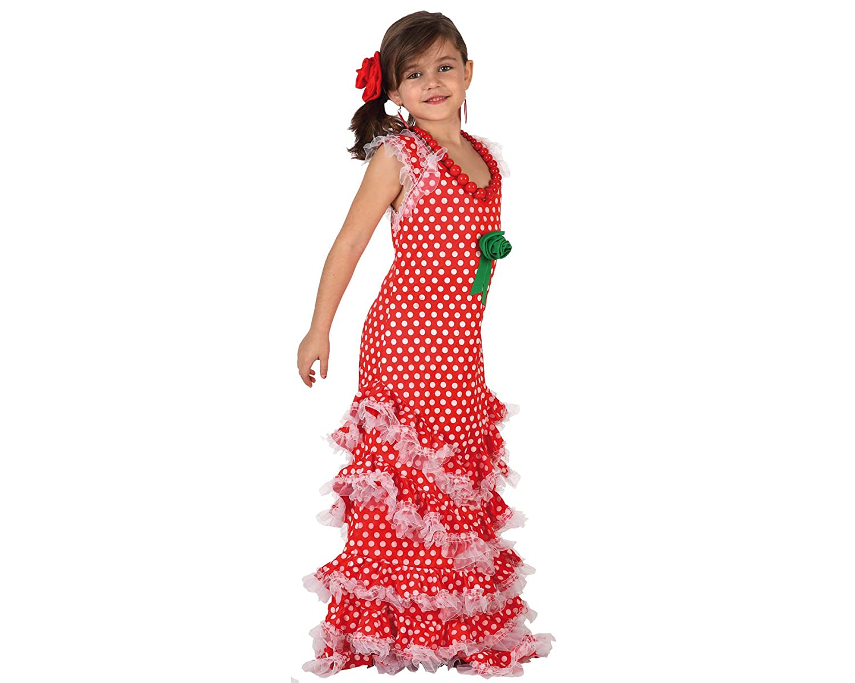 Atosa 7199 - Disfraz de sevillana para niña: Amazon.es: Juguetes y ...