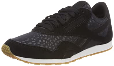 Reebok Women s Classic Nylon Slim Text Lux Trainers  Amazon.co.uk ... 5453ef838
