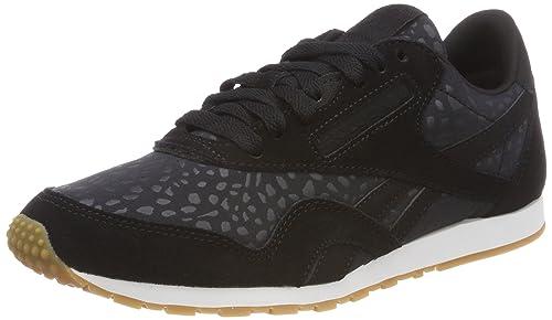 Reebok Classic Nylon HS, Zapatillas para Hombre, Negro (Black/White-Gum), 39 EU