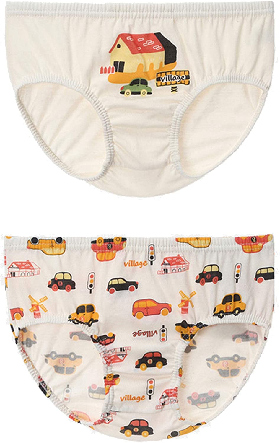 HiOrganic 100/% Organic Cotton Toddler Boys Underwear Panty 2 Pack 3T-7
