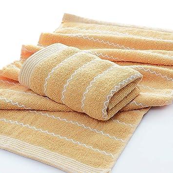 EMHU Toallas de la Toalla de la Raya de la Toalla de la Raya Absorbente de Las Toallas del algodón del Color sólido orgánico: Amazon.es: Hogar