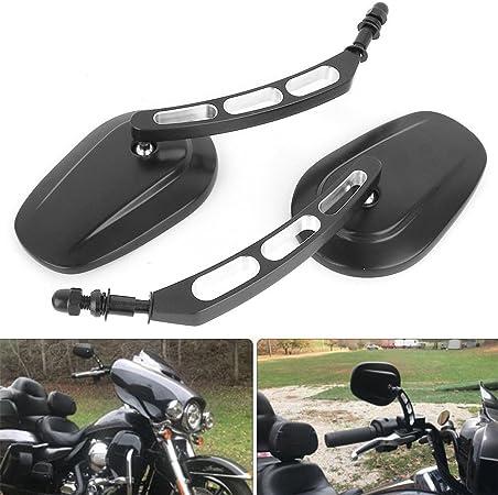 8mm Motorrad Spiegel Lenker Rückspiegel Für Cruiser Touring Harley Davidson Xl 883 1200 Schwarz Mit Loch Auto
