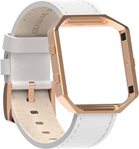 Amazon.com: for Fitbit Blaze Bands Leather with Frame