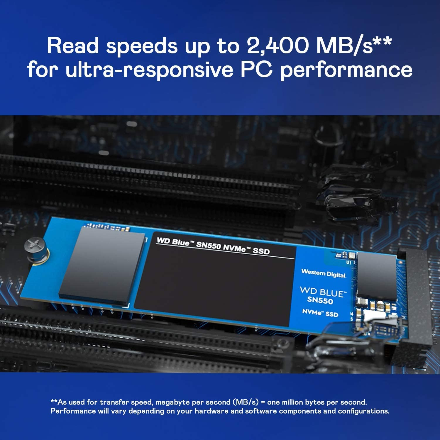 WD Blue SN550 500 GB alto rendimiento M.2 Pcie NVMe SSD: Amazon.es ...
