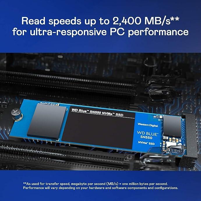 WD 西部数据 SN550 500GB M.2接口 NVMe协议 SSD固态硬盘 7.2折$64.99 海淘转运到手约¥462