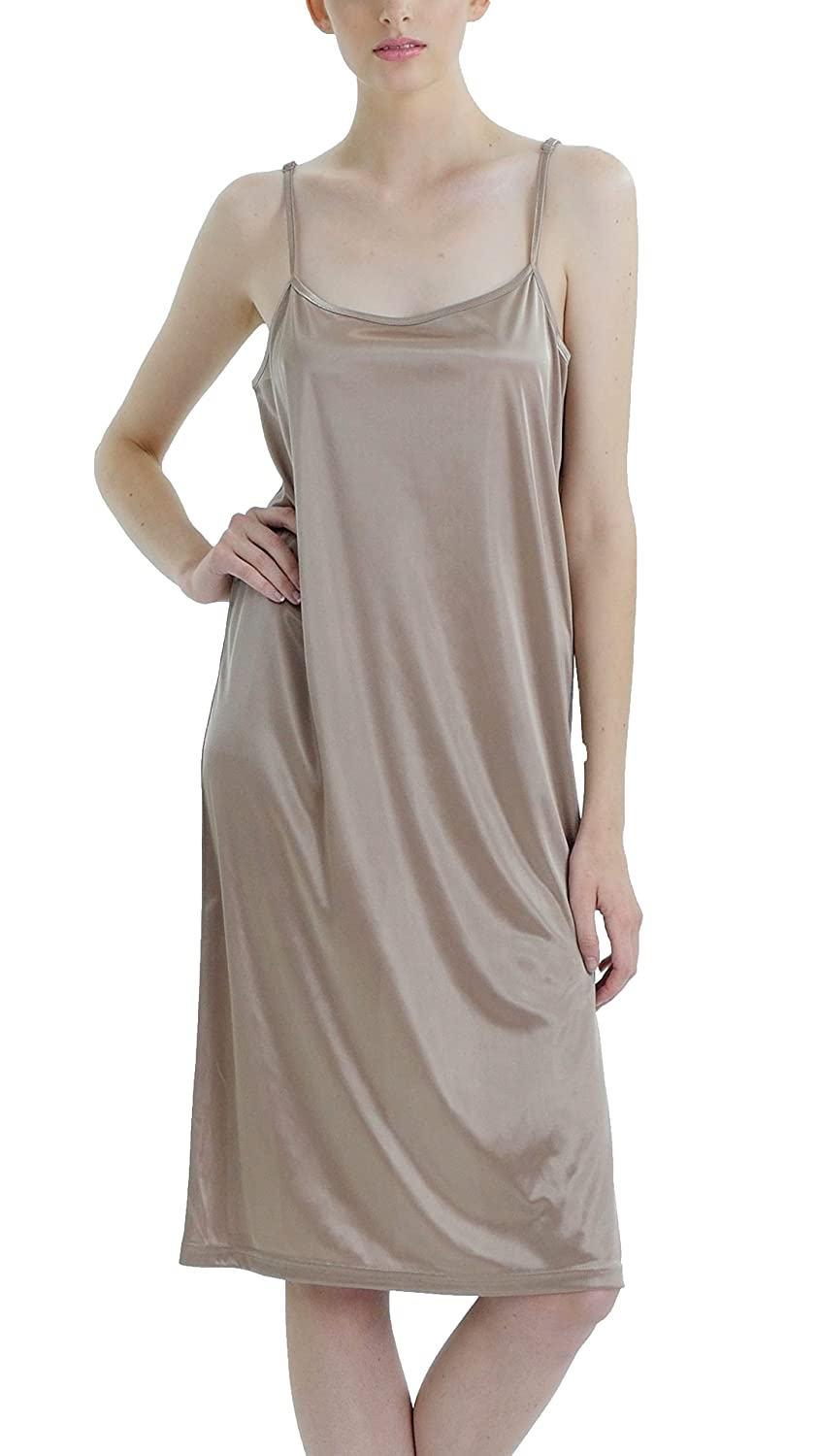 [Shop Lev] Women Basic Satin Full Slip Chemise
