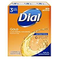 Deals on Dial Antibacterial Deodorant Bar Soap, Gold, 4 Ounce, 3 Bars