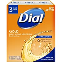3-Count Dial Antibacterial Deodorant Soap 4 Ounce (Gold)
