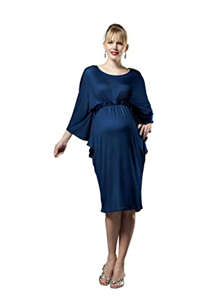 c3f40f873a7cc Picchu Maternity Dress, Butterfly sleeve, empire line, will fit from 0-9  months and beyond, Winter Navy (12, Winter Navy): Amazon.co.uk: Clothing