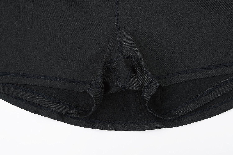 HonourSport Women Cute Cheerleading Skirt Casual Pleated Flare Skort with Pockets